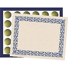 Flipside Art Deco Blue Border Certificate
