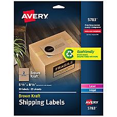 Avery Permanent InkjetLaser Shipping Labels 5783