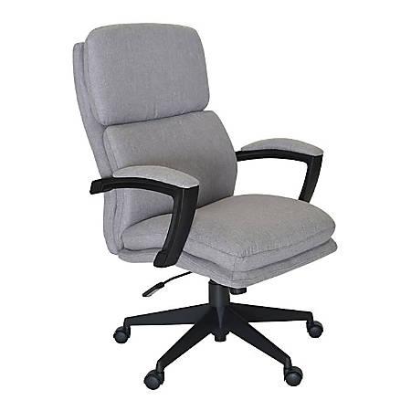 Serta Style Morgan High-Back Office Chair, Fabric, Light Gray/Black