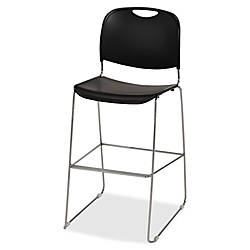 Lorell Plastic Bistro Height Stack Chair