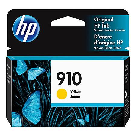 HP 910 Original Ink Cartridge, Yellow (3YL60AN)