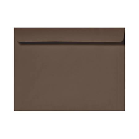 """LUX Booklet Envelopes With Moisture Closure, 6"""" x 9"""", Chocolate Brown, Pack Of 50"""