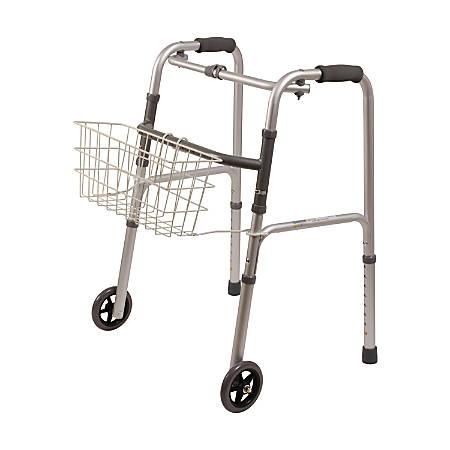 """DMI® Snap-On Walker Basket, 5""""H x 16""""W x 7""""D, White"""