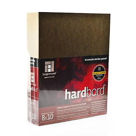 "Ampersand Cradled Hardboard, 8"" x 10"", 2"""