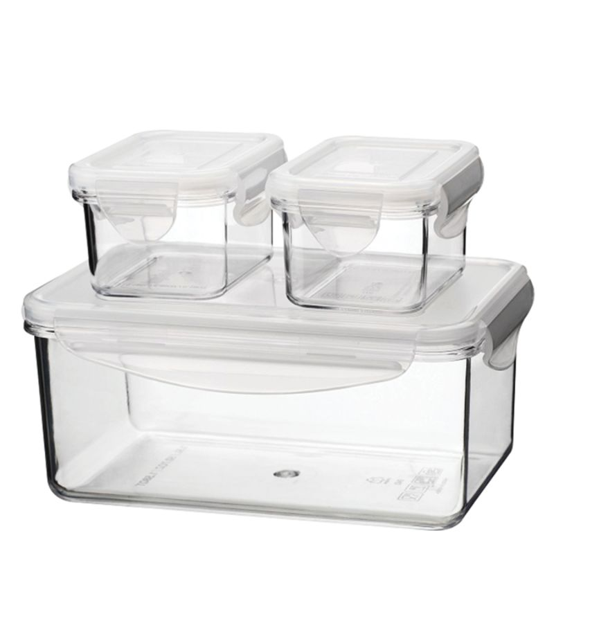 Tritan Food Storage Container Sets 6 Piece Set 6 Oz51 Oz Clear by