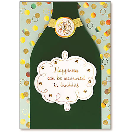 "Viabella Birthday Greeting Card With Envelope, Happiness Bubbles, 5"" x 7"""