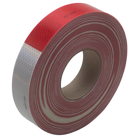"""3M™ 983 Reflective Tape, 3"""" Core, 2"""" x 50 Yd., Red/White"""