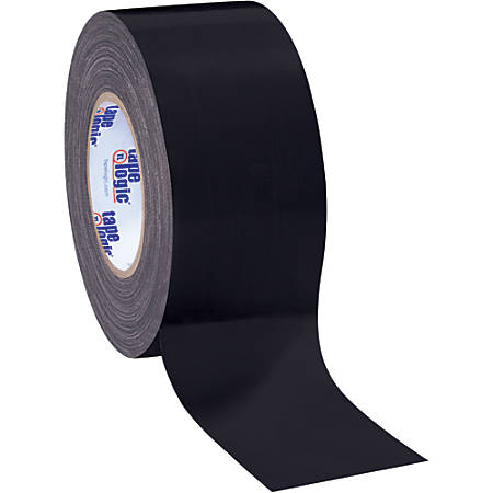 "Tape Logic® Color Duct Tape, 3"" Core, 3"" x 180', Black, Case Of 3"