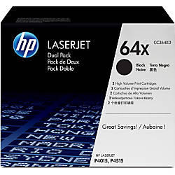 HP 64X Black Original Toner Cartridges