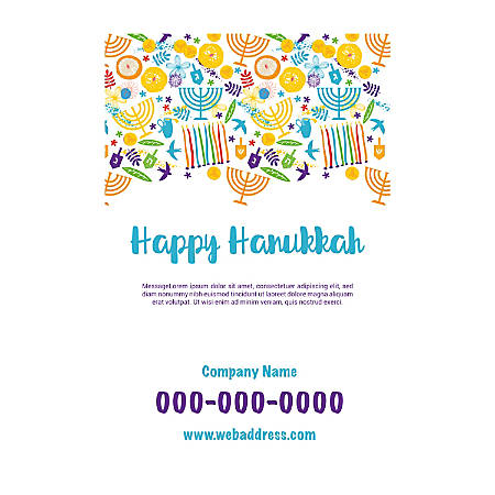 Plastic Sign Template, Hanukkah Art, Vertical