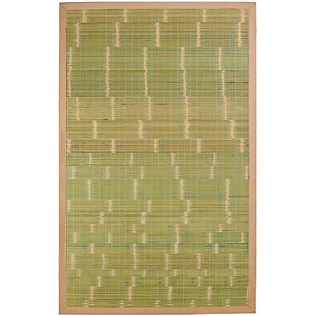 Anji Mountain Key West Bamboo Rug, 6' x 9', Green