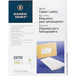 Business Source Copier Shipping Labels 2