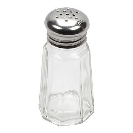 American Metalcraft Mushroom-Capped Salt/Pepper Shaker, 1 Oz, Clear