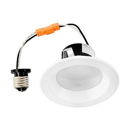 Luminoso LED Retrofit Round Downlight Trim, 5,000 Kelvin, 13 Watt, 910 Lumens