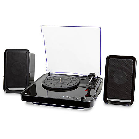 iLive Bluetooth® Turntable With Speakers, Black, ITTB757B