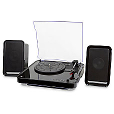 iLive Bluetooth Turntable With Speakers Black