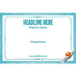 Adhesive Sign Graduation Scroll Horizontal