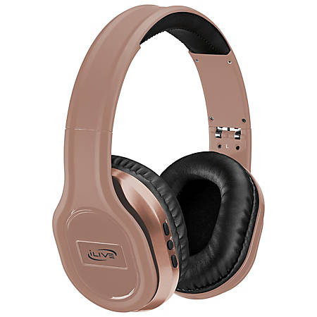 iLive Bluetooth® Over-The-Ear Headphones, Rose Gold, IAHP87RGD
