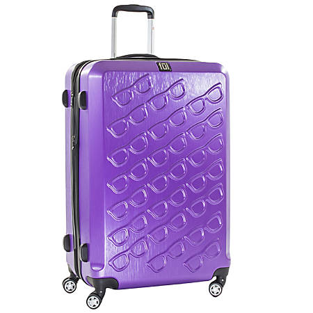 """ful Sunglasses ABS Upright Rolling Suitcase, 29 1/2""""H x 19 1/4""""W x 12""""D, Purple"""