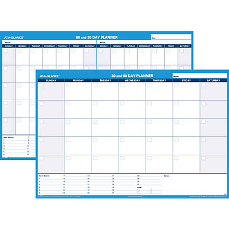 "AT-A-GLANCE® Undated Erasable/Reversible Wall Planner, 30/60 Day, 48"" x 32"" (PM33328)"