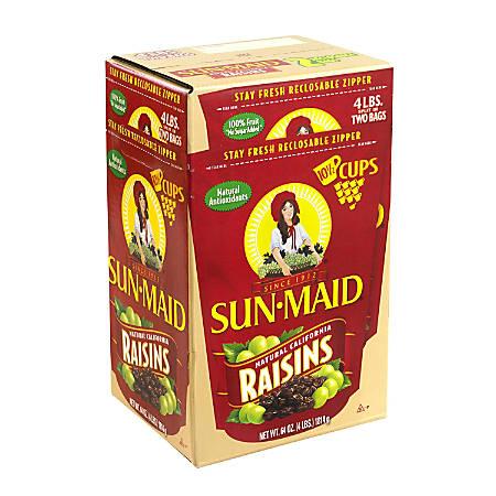 Sun-Maid Natural California Raisins, 64 Oz Box