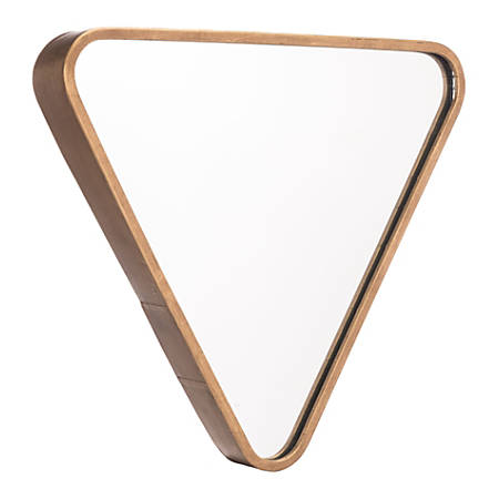 "Zuo Modern Triangle Mirror, 15 3/4""H x 17 5/16""W x 2""D, Gold"