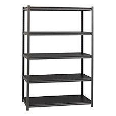 Lorell Riveted Storage Shelving 5 Shelf