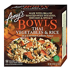 Amys Thai Vegetables Rice Bowls With