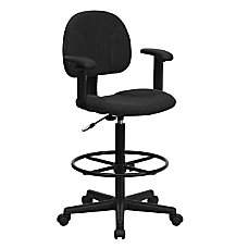 Flash Furniture Ergonomic Drafting Chair Black