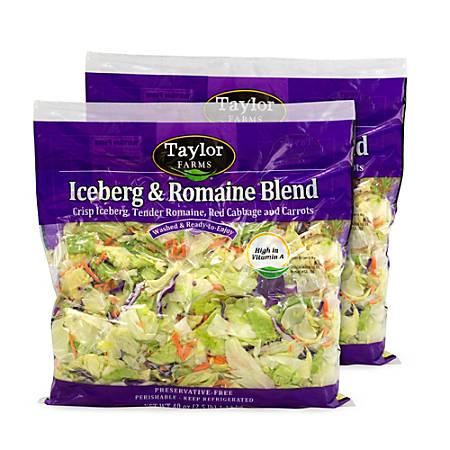 Taylor Farms Iceberg & Romaine Lettuce Blend, 40 Oz Bag, Pack Of 2 Bags