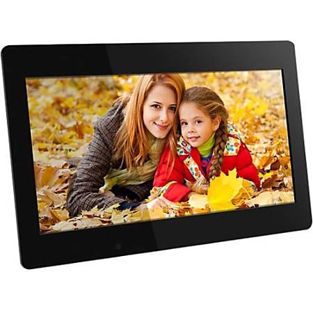 """Aluratek ADMPF118F 18.5"""" Digital Photo Frame, 18.75""""H x 1.25""""W x 12.75""""D, Black"""