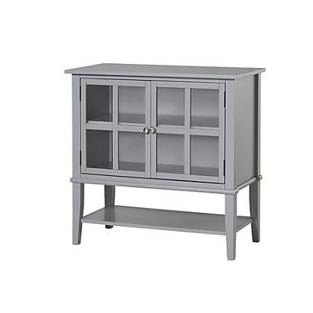 Ameriwood™ Home Franklin 2-Door Storage Cabinet, 2 Shelves, Gray
