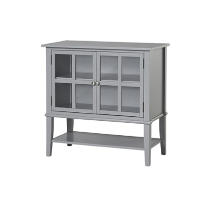 Fantastic Ameriwood Home Franklin 2 Door Storage Cabinet 2 Shelves Gray Item 5851735 Interior Design Ideas Ghosoteloinfo