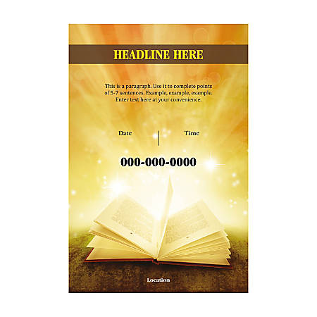 Adhesive Sign Template, Vertical, Holy Bible