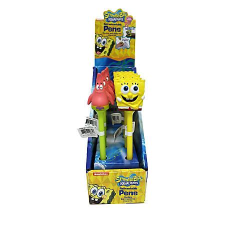 Nickelodeon SpongeBob Pens, Medium Point, 0.7 mm, Red/Green Barrel, Black Ink, Pack Of 16 Pens