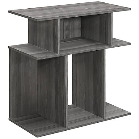 "Monarch Specialties Justin Accent Table, 23-3/4""H x 23-3/4""W x 11-3/4""D, Gray"