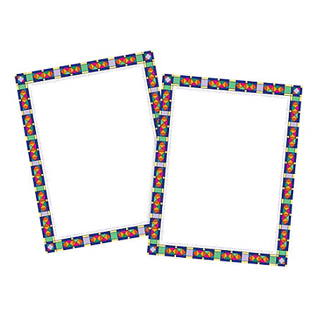 Barker Creek Computer Paper, Letter Paper Size, 60 Lb, Stained Glass, 100 Sheets