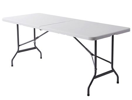 Reale Molded Plastic Top Folding Table Half Fold 6w Platinum By Office Depot Officemax