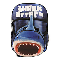 Shark Backpack With Lunch Kit Blue