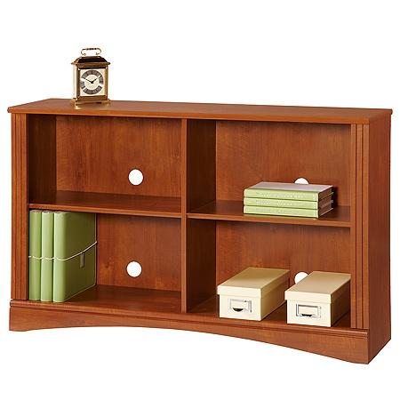 Realspace Dawson 2 Shelf Sofa Bookcase Brushed Maple Office Depot