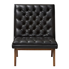 Baxton Studio Yasin Faux Leather Lounge