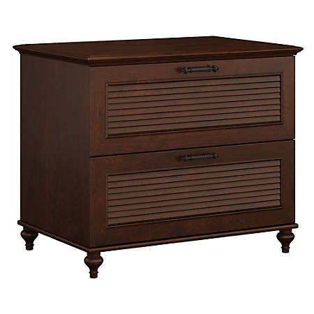 kathy ireland® Office by Bush Furniture Volcano Dusk Lateral File Cabinet, Coastal Cherry, Standard Delivery