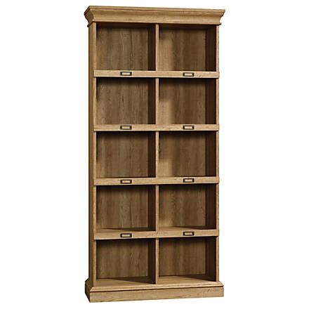 Sauder® Barrister Lane Cubby Bookcase, Tall, Scribed Oak