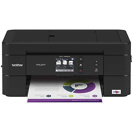 Print Brother MFC J690DW Inkjet Multifunction Printer