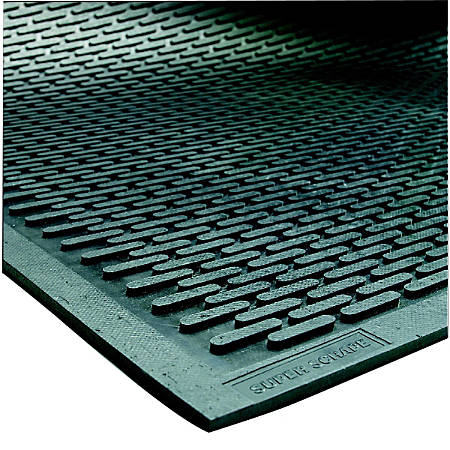 SuperScrape Floor Mat, 3' x 10', Black
