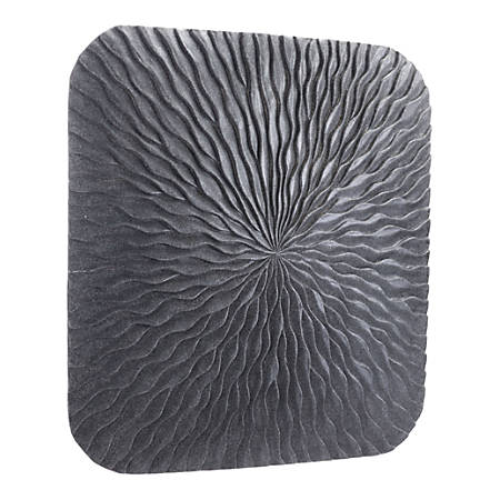 Zuo Modern Square Wave Plaque, Large, Dark Gray