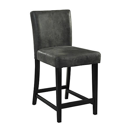 Linon Home Decor Products Morocco Stool, Charcoal/Black