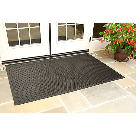SuperScrape Floor Mat, 6' x 6', Black