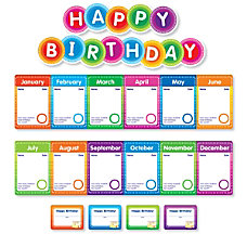 Color Your Classroom Birthdays Mini Bulletin