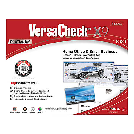 VersaCheck® X9 Platinum TopSecure 2020, For 5 Users, Traditional Disc